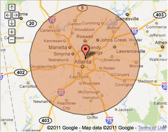 Atlanta Carpet Cleaning Service Area